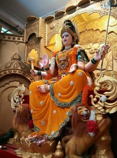 Navratri Puja will help you overcome all your negativities. Flourish with wealth on this Navratri by offering Homam to Lakshmi, Saraswathi & Durga. Durga Ji, Saraswati Goddess, Kali Goddess, Mother Goddess, Shiva Shakti, Saraswati Mata, Maa Durga Photo, Maa Durga Image, Durga Images