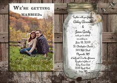rustic wedding invitation traditional wedding от OldOwlPress