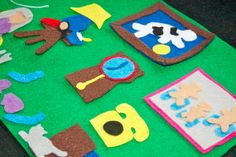 Goodnight Moon - Flannel Board Felt Story Set with Green Background