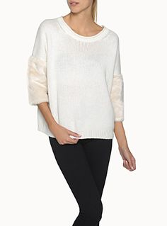 Soft. White. Sweater.