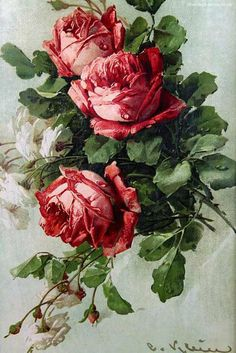 Beautiful Victorian Roses Print by Catherine Klein: www.vintage-home…. Beautiful Victorian Roses Print by Catherine Klein: www.vintage-home…. Art Floral, Floral Vintage, Vintage Diy, Vintage Flowers, Floral Prints, Vintage Easter, Victorian Flowers, Victorian Art, Rose Art
