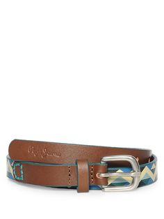160 kr (320) Pepe Jeans Leather Belt, green