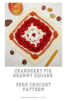Crochet Motif Patterns, Granny Square Crochet Pattern, Crochet Squares, Crochet Fall, Easy Crochet, Free Crochet, Front Post Double Crochet, Modern Crochet, Crochet Projects