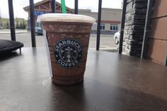 Starbucks' Mocha Coconut Frappuccino    I'm using coconut vanilla almond milk instead of the low fat milk :)