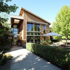 Food & Wine best Oregon wineries to visit: Carlton Winemakers Studio Santa Barbara Vineyards, Carlton Oregon, Oregon Pinot Noir, Napa Valley, Outdoor Art, Outdoor Decor, Oregon Wine Country, Winery Tasting Room