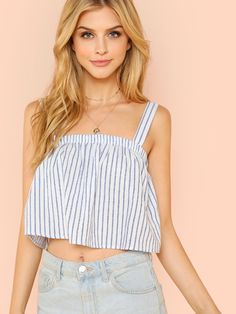 Crop Top Outfits, Cute Outfits, Summer Outfits, Floral Top Outfit, Denim Jacket With Dress, Diy Clothes, Clothes For Women, Korean Fashion Dress, Girl Fashion
