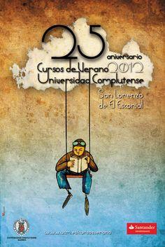 Y al fin! el cartel de la XXV Edición de los Cursos de Verano. Autora: Montserrat Alejándrez