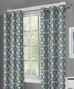 Another great find on #zulily! Dark Teal Teemu Yarn-Dyed Grommet Panel - Set of Two #zulilyfinds