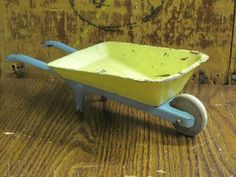 Vintage Tin Toy 1940s Wheel barrel by MyAlexasStore on Etsy