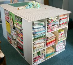 great way to organize all your fabric