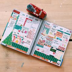 It's finally here!! Christmas Week!! There is going to be so much fun this week and my planner needed to be dressed accordingly! #christmas #christmasplanning #planneraddict #plannergirl #plannerlove #plannerjunkie #mambi #erincondren #eclp #weloveec #plannerjunkie #plannercommunity by pricklypearplanner