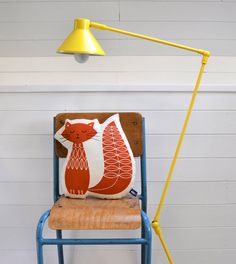 NEW Hand Screen Printed Cat in Burnt Orange by robinandmould, £20.00