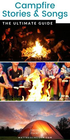 One of the most memorable parts of camping is singing songs and telling stories around the campfire. Whether you are a family with kids or just want to relive your childhood camp memories, this list of songs and stories can help. We have scary, kid friendly, short and silly campfire stories and songs for you in this list. #camping #campingwithkids #campingtips #campingwithfamily Camping With Kids, Family Camping, Camping Hacks, Camping Ideas, Metal Health, Campfire Stories, Song List, Boredom Busters, Telling Stories