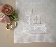 Vintage Handkerchief Brides Hanky Vintage by TwiningVines on Etsy, $12.00