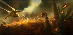Aquecimento para as artes de Star Wars: The Force Awakens | THECAB - The Concept Art Blog