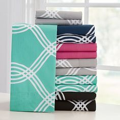 Infinity Stripe Sheet Set, XL Twin, Pink Magenta