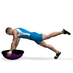 The exercise involves the glutes, during the motion, the abs, the lumbar muscles and the shoulders holding the position.It can be a harder variation to improve the abs.