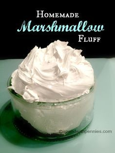 This recipe creates homemade marshmallow fluff which is superior to the store bought kind! Learn how to make your own marshmallow fluff today! This recipe creates homemade marshmallow fluff which is superior to the store bought ki Homemade Marshmallow Fluff, Homemade Marshmallows, Candy Recipes, Sweet Recipes, Dessert Recipes, Fudge Recipes, Deco Cupcake, Cupcake Cakes, Bundt Cakes