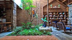 Uncle's House by 3 Atelier « Inhabitat – Green Design, Innovation, Architecture, Green Building Interior Garden, Interior And Exterior, Future House, My House, Casa Patio, Tropical Houses, Green Building, Sustainable Design, My Dream Home
