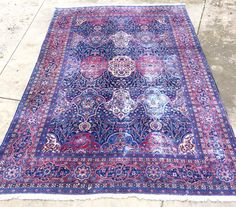 1110x1810 Antique Persian Rug  Beautiful 100% wool and hand-woven in the 1920s. Photos show some of the lower-pile areas and fading - all characteristic