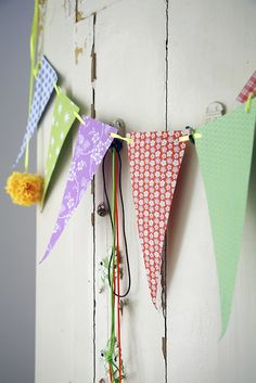 DIY bunting – simple and pretty : )