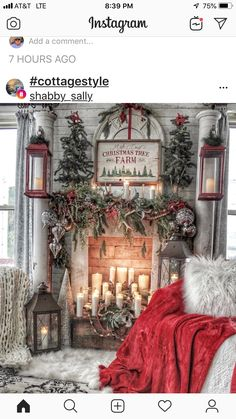 Here are the Christmas Fireplace Decor Ideas. This post about Christmas Fireplace Decor Ideas was. Christmas Room, Christmas Mantels, Cozy Christmas, Outdoor Christmas, First Christmas, White Christmas, Christmas Staircase, Christmas Ideas, Christmas Movies