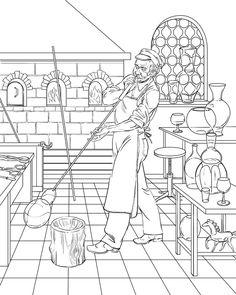 Profession by Anton Batov, via Behance Farm Coloring Pages, Barbie Coloring Pages, Coloring For Kids, Printable Coloring Pages, Coloring Sheets, Coloring Books, Wood Burning Patterns, Wood Burning Art, 3d Paper Art