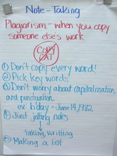 Teaching students how to take notes--they need this and I so worry they are never really taught it.