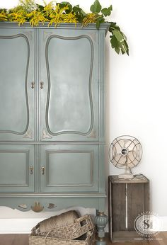 The Millionaire's Daughter Vintage Cabinet painted in 'Barn Door' Chalky Paint | Salvaged Inspirations
