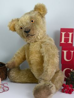 Bears Love a Hug and this lovely old bear found one very soon after he appeared on the Once Upon a time bears website