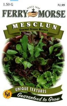 Ferry-Morse 1821 Mesclun Seeds, Gourmet Greens Mix (1.5 Gram Packet) Ferry-morse,http://www.amazon.com/dp/B003V1WRBA/ref=cm_sw_r_pi_dp_.Htutb0B1BKNEG7D
