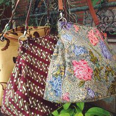 Ambar Batik Bag in three different batik patterns #djokdjabatik