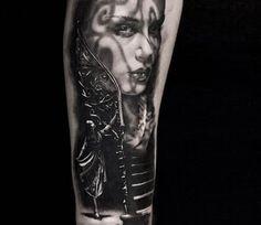 Black tattooing art by Michael Taguet
