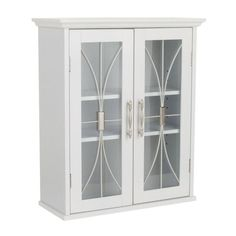 Elegant Home Fashions Victorian 20.5 in. W x 8.5 in. D x 24 in. H Wall Cabinet in White-9HD930 at The Home Depot