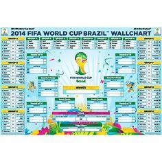 2014 FIFA World Cup Bracket Wallchart Poster primeros accesorios para la copa