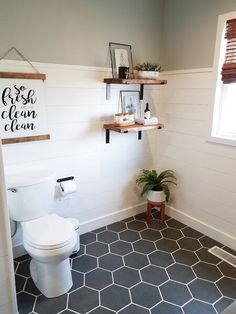 Get inspired by Farmhouse Bathroom Design photo by Wayfair. Wayfair lets you find the designer products in the photo and get ideas from thousands of other Farmhouse Bathroom Design photos. Bathroom Makeover, Small Bathroom Tiles, Home Renovation, Bathroom Renovations, Flooring, Bathroom Flooring, Bathrooms Remodel, Bathroom Design, Bathroom Decor