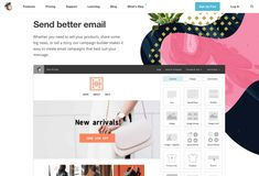 By using screenshots, MailChimp allows visitors to project themselves more easily. The idea is to help visitors better understand the service by viewing a sample. Best Landing Page Design, Landing Page Examples, Best Landing Pages, Sign Up Page, Best Email, Email Campaign, Wordpress Template, Creating A Blog, How To Start A Blog
