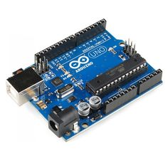 This is the extremely popular Arduino Uno - based on the processor. It's the perfect Arduino board to get started with. Led Arduino, Arduino Board, Arduino Clone, Arduino Bluetooth, Arduino Projects, Electronics Projects, Hobby Electronics, Electrical Projects, Circuit Projects