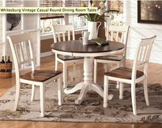 http://www.theclassyhome.com/Product/D583-15BT/Whitesburg+Vintage+Casual+Round+Dining+Room+Table#