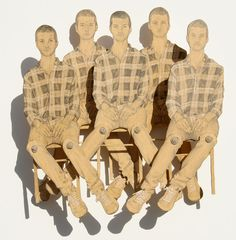 "Pack of Seasted Boys 2008 | 12"" x 12"" 