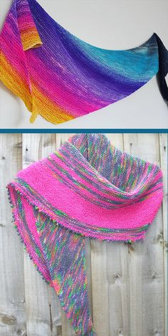 Free until May 2020 Knitting Pattern for Easy Fuss Free Festival Shawl - Garter stitch shawl with options to add stripes and a picot bindoff. Rated easy by Ravelrers. Designed by Louise Tilbrook. Pictured projects by the designer and JudeFE Loom Knitting Patterns, Shawl Patterns, Hand Knitting, Stitch Patterns, Crochet Patterns, Knitting Tutorials, Knit Or Crochet, Crochet Granny, Knit Stockings