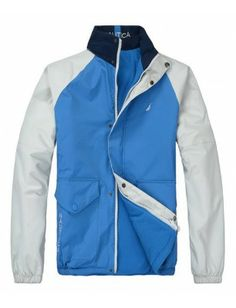 Nautica chaqueta reversible de hombre   Blue-white Raincoat, Vest, Jackets, Fashion, Slip On, Presents, Men, Hipster Stuff, Rain Jacket