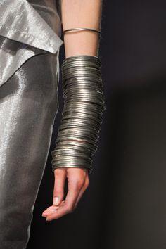 On Trend!   Stacking bracelets.  Peachoo Krejberg Spring 2014