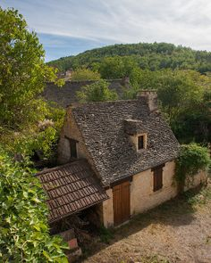 Village of Sergeac on the Vezere River, France