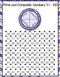 Prime and Composite Numbers 'Squares' Game contains 13 fun and engaging factors games to help students practice identifying prime and composite numbers (2-100).