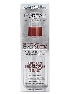 L'Oréal Paris EverSleek Super Sleek Intense Serum, drugstores, $9, seals the cuticle with a mix of argan, sunflower and olive oils.