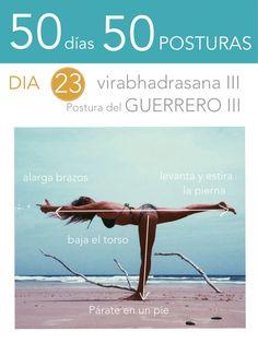 ૐ YOGA ૐVirabhadrasana IIIૐ 50 días 50 posturas. Día 23. Guerrero III