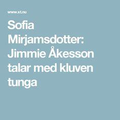 Sofia Mirjamsdotter: Jimmie Åkesson talar med kluven tunga