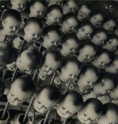 To get you into the Halloween spirit here, dear Dangerous Minds readers, here is a collection vintage dolls and dummies to make your skin crawl. via Vintage Everyday Vintage Bizarre, Creepy Vintage, Doll Head, Doll Face, Dreams And Nightmares, Dangerous Minds, Valley Of The Dolls, Baby Head, Baby Baby