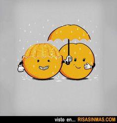 Pareja de naranjas.
